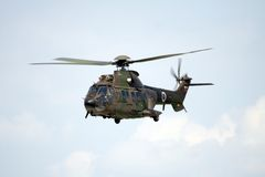 Puma militaire d'hélicoptère Photo libre de droits