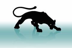 Puma nero 2 Fotografia Stock Libera da Diritti
