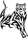 Puma in tribal style - vector illustration Royalty Free Stock Photos