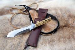 Puma white hunter knife Stock Photos