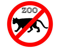 Puma in zoo prohibited. Detailed and colorful illustration of puma in zoo prohibited Stock Images