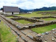 Pumapungo,古城Tomebamba的印加人的废墟?昆卡省,厄瓜多尔 免版税库存图片