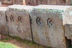 Pumapunku ruiny w Boliwia zdjęcia royalty free