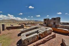 Pumapunku Tiwanaku archeologiczny miejsce Boliwia zdjęcie royalty free