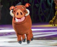 Pumbaa auf Rochen Stockbild