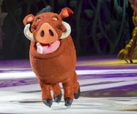 Pumbaa on Skates Stock Image