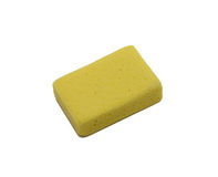 Pumice. Yellow pumice, isolated on white Stock Image