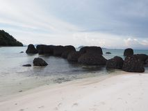 Pumice on beach Stock Photo