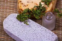 Pumice and handmade soap Royalty Free Stock Images