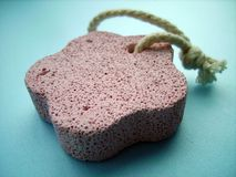 Pumice Stone. A close detail of a pink pumice stone Royalty Free Stock Images