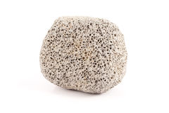 Pumice Stone Detail Isolated on White Background Royalty Free Stock Photography