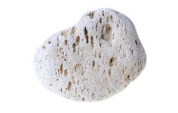 Pumice stone isolated. A natural piece of pumice stone isolated on white background Royalty Free Stock Photography
