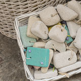 Pumice stone in the souvenir shop, colorful pumice stone, Differ Royalty Free Stock Photography