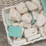 Pumice stone in the souvenir shop, colorful pumice stone, Differ Royalty Free Stock Image