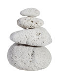 Pumice stone stack of four Royalty Free Stock Photography