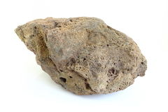 Pumice stone of volcano look like asteroid Stock Image