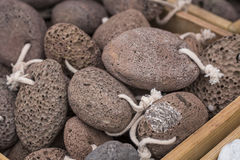 Pumice at traditional market. Royalty Free Stock Images