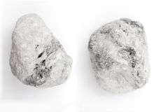 Pumice on a white background. Royalty Free Stock Images