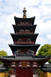 puming苏州寺庙的瓷hanshan塔 免版税库存图片