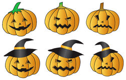 Pumkin halloween background Royalty Free Stock Images