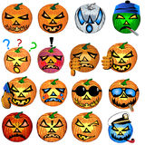 Pumkin Icons Set 2 Royalty Free Stock Photography
