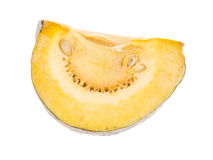 Pumkin object. View of cutting pumkin isolated on while background royalty free stock image