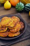 Pumkin pancakes Stock Image