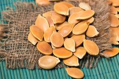 Pumkin seeds pile Royalty Free Stock Photography