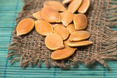 Pumkin seeds pile Stock Photography