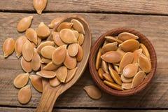 Pumkin seeds pile Stock Photo