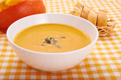 Pumkin soup Royalty Free Stock Photography