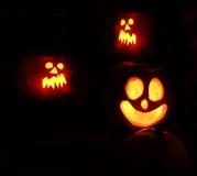 pumkins фонариков o jack halloween Стоковая Фотография RF