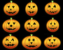 Pumkins collection Royalty Free Stock Photo