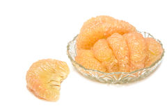 Pummelo fruit,thai fruit  isolated on a white background. Stock Images