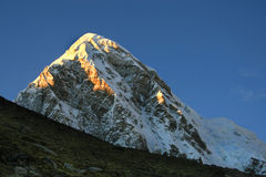 Pumo Ri. This is the view of  mountains at Kala Pattar. Pumo Ri  (7165 m) - the interesting object for climbing. Nepal 2008 Royalty Free Stock Photo