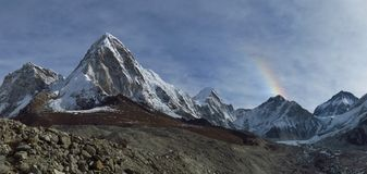 Pumo Ri and Everest Base Camp Royalty Free Stock Photo