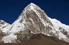 Pumori and Kala Patthar Mountains Royalty Free Stock Images