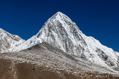 Pumori mountain and Kala Patthar - mount Everest. Stock Image
