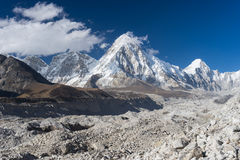 Pumori mountain and Khumbu glacier, Everest region. Nepal Royalty Free Stock Photography