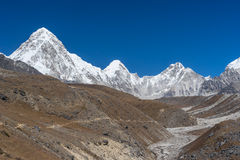 Pumori mountain peak, Everest region Royalty Free Stock Photos