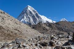 Pumori mountain peak, Everest region Stock Image