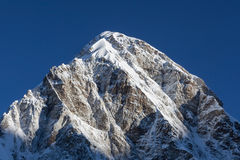 Pumori mountain peak on the famous Everest Base. Stock Photos