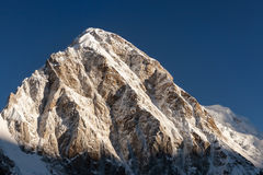 Pumori mountain peak on the famous Everest Base. Royalty Free Stock Photography