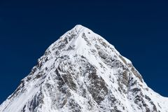 Pumori mountain peak, Himalaya mountain range, Everest region, N. Epal, Asia royalty free stock photo