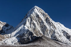 Pumori mountain summit on the famous Everest Base. Royalty Free Stock Photography