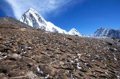 Pumori Peak Background - Nepal Royalty Free Stock Photo