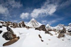Pumori peak view royalty free stock photography