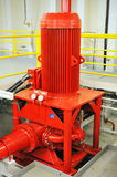 Pump. Fire pump installed on drill ship Stock Photography