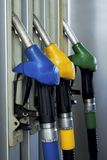 Pump. Color gasoline pump close up Royalty Free Stock Photography