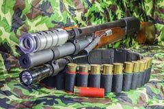 Pump action shotgun Royalty Free Stock Photography